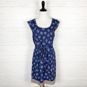 Boden • Navy Blue Print Drapey Day Dress